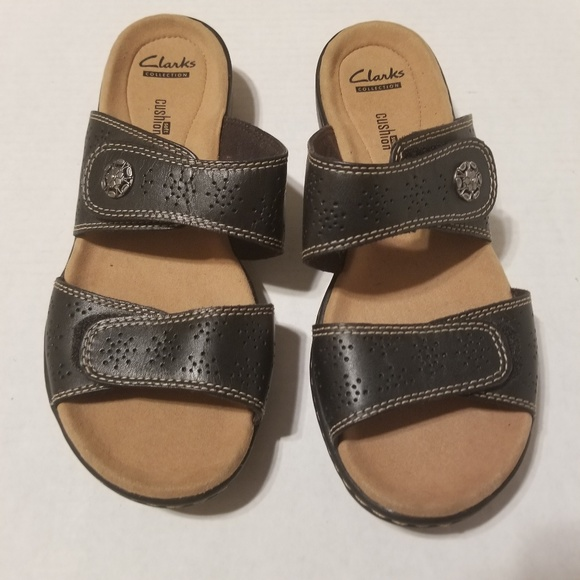 273a9fb6cd00 Clarks Shoes - Clark s Leisa Lacole Slide Sandal Black size ...